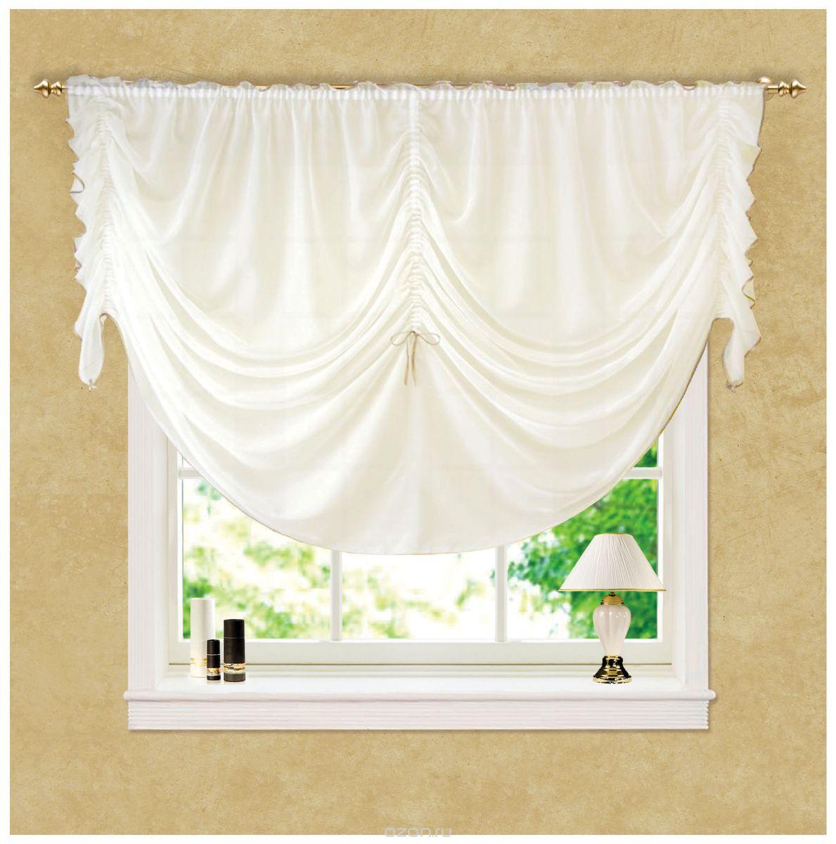 Штора готовая Garden, на ленте, высота 160 смНикаГотовая штора Garden, выполненная из 100% полиэстера, стильно оформит окно и создаст особенную уютную атмосферу. Такая штора великолепно смотрится как одна, так и в паре, в комбинации с нежной тюлевой занавеской, собранная на подхваты и свободно ниспадающая естественными складками. Изделие долговечно и не боится стирок, не сминается, не теряет своего блеска и яркости красок.