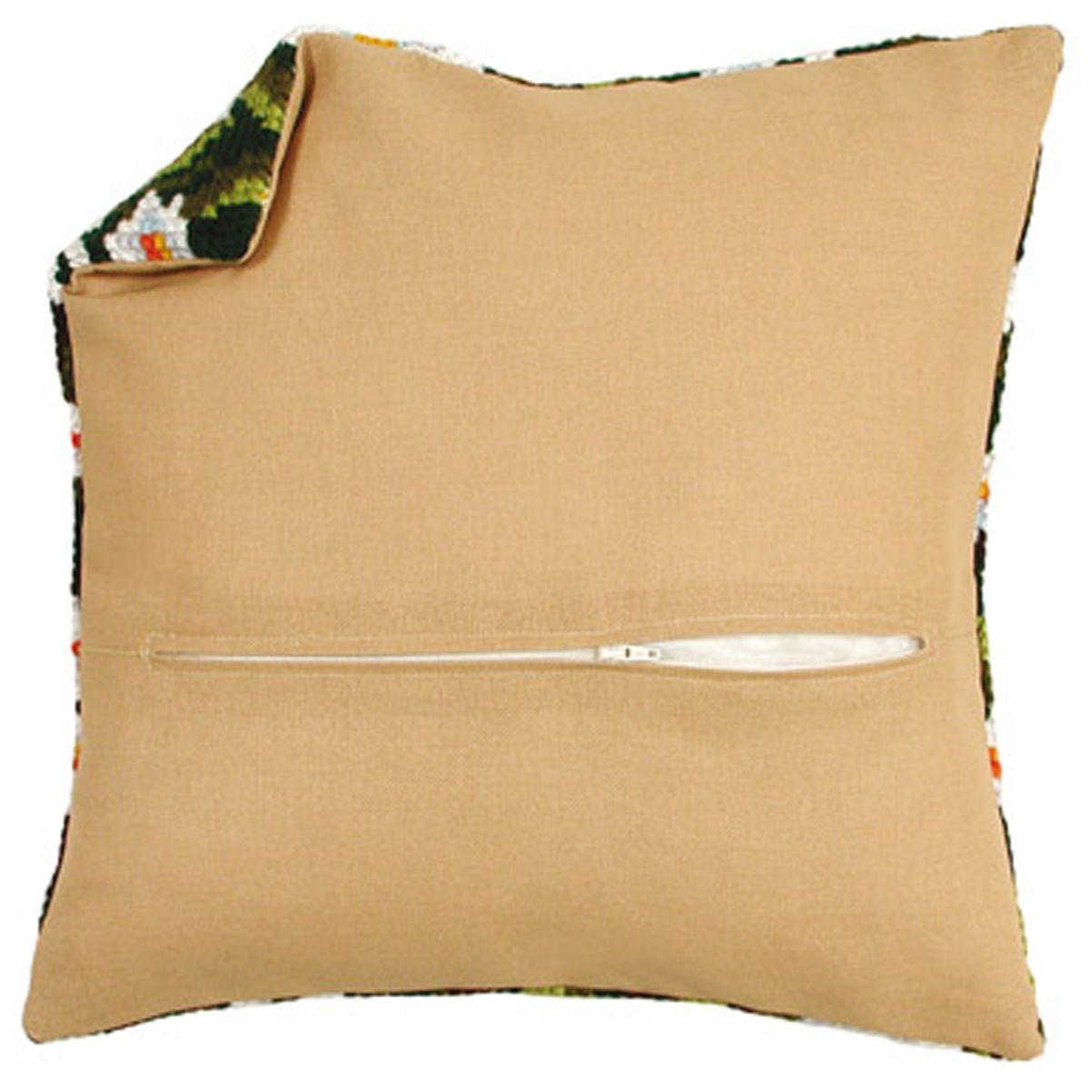 Обратная сторона подушки Vervaco, 45 х 45 см, цвет: бежевый8999-11Обратная сторона подушки с уже вшитой молнией. Идеальна для подушек размером 40х40 см. В центре вшит замок-молния, вам останется только пришить ее к декоративной части подушки. Состав: 100% хлопок. Упаковка: п/э пакет с подвесом