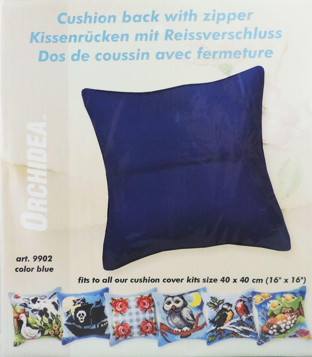 Обратная сторона подушки Orchidea, 45 х 45 см, цвет: черный. 99029902Обратная сторона подушки с уже вшитой молнией. Идеальна для подушек размером 40х40 см. В центре вшит замок-молния, вам останется только пришить ее к декоративной части подушки. Состав: 100% хлопок