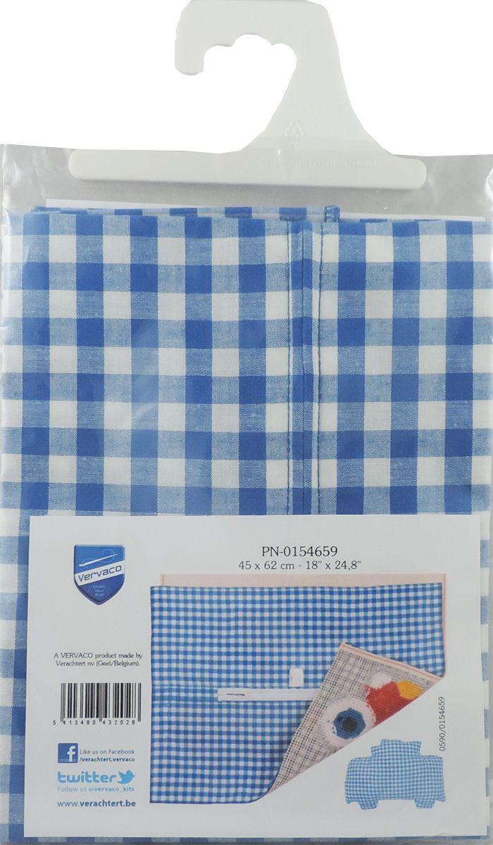 Обратная сторона подушки Vervaco, 45 х 62 см, цвет: синийPN-0154659Обратная сторона подушки с уже вшитой молнией. Идеальна для фигурных подушек. В центре вшит замок-молния, вам останется только пришить ее к декоративной части подушки. Состав: 100% хлопок. Упаковка: п/э пакет с европодвесом