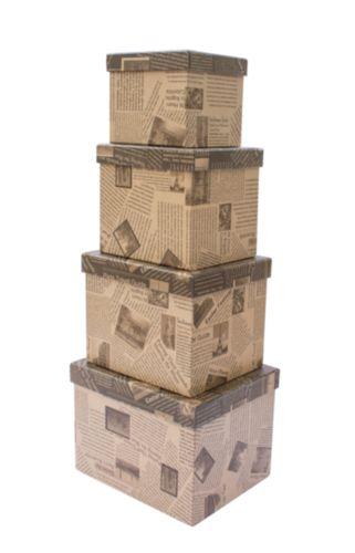 Набор подарочных коробок Hobby&You Крафт газеты, 8 штHY00701