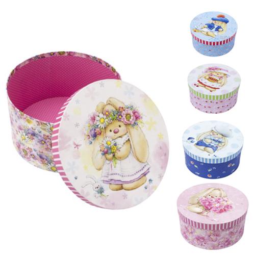 Набор подарочных круглых коробок Hobby&You ЗайкаМи, 5 штHY00708