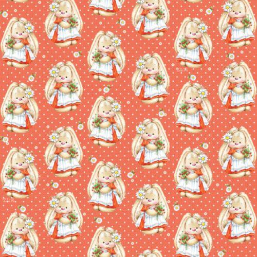 Упаковочная бумага ЗайкаМи Hobby&You Земляника в цвету, 674 х 974 ммHY00802
