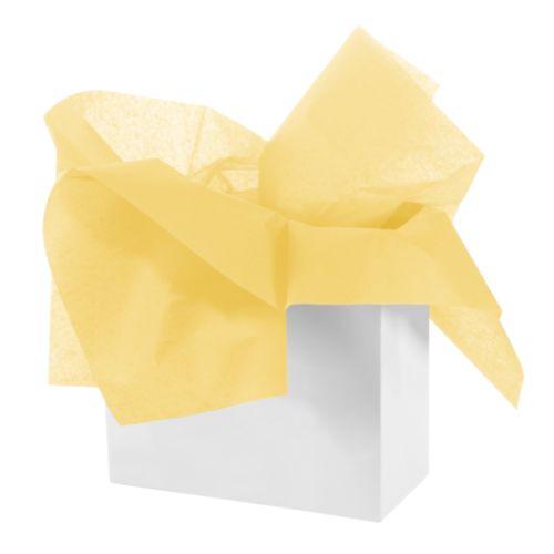 Бумага тишью 50 х 70см, цвет: желтый, 3 штHY06024