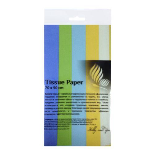 Набор бумаги тишью Hobby&You Полевые цветы, 50 х 70 см, 5 штHY07002