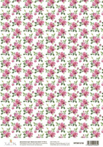 Декупажная карта Hobby&You Дикие розы (фон), 21 х 30 смHY501218
