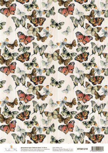 Декупажная карта Hobby&You Бабочки (фон), 21 х 30 смHY501219