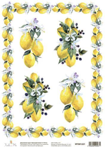 Декупажная карта Hobby&You Цветущий лимон, 21 х 30 смHY501221
