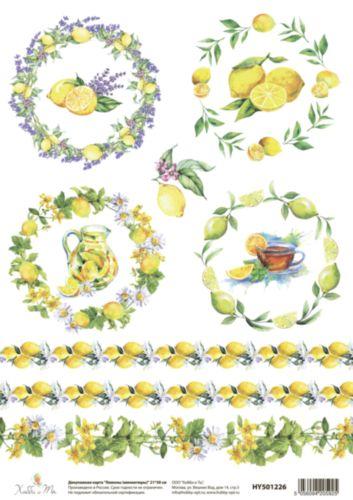 Декупажная карта Hobby&You Лимоны (миниатюры), 21 х 30 смHY501226