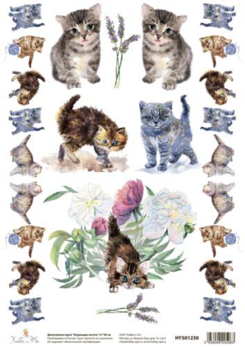 Декупажная карта Hobby&You Играющие котята, 21 х 30 смHY501230