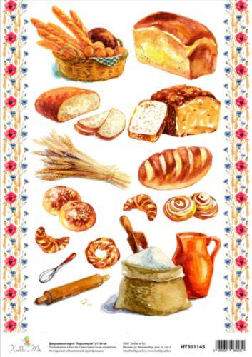 Декупажная карта Hobby&You Деревенский хлеб, 21 х 30 смHY501252