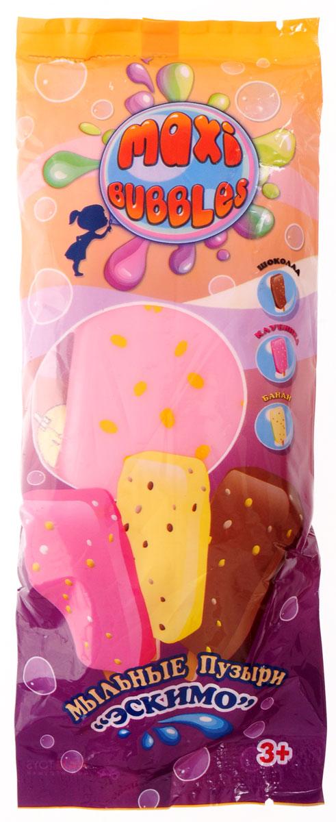 Maxi Bubbles Мыльные пузыри Эскимо с ароматом клубники 110 мл