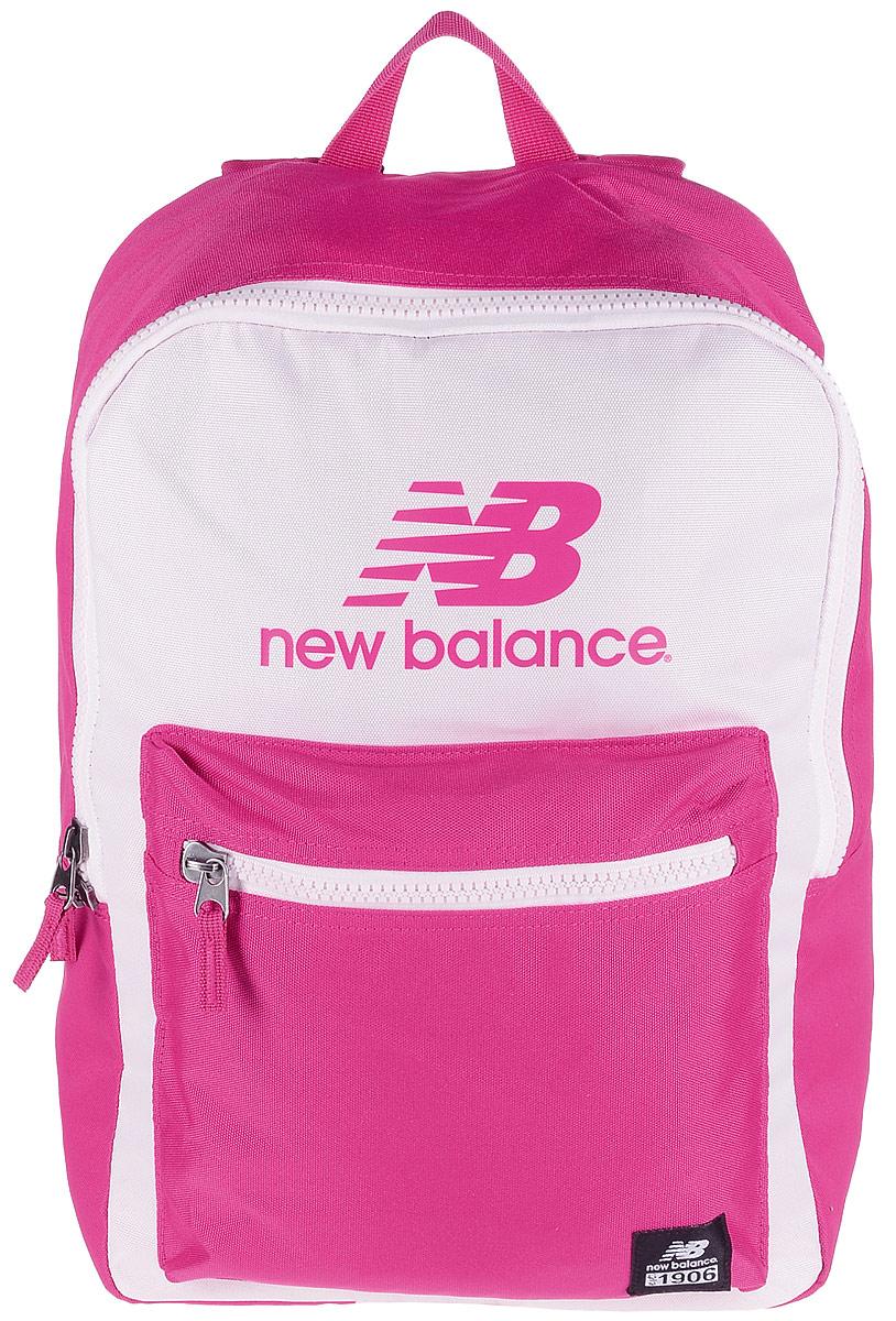 Рюкзак New Balance Booker Backpack, цвет: розовый, фуксия. 500045/DP500045/DPСтильный городской рюкзак New Balance Booker Backpack выполнен из полиэстера и оформлен фирменной символикой. Изделие имеет одно отделение, которое застегивается на застежку-молнию. Внутри находится накладной карман для ноутбука или планшета. Снаружи на передней стенке расположен накладной объемный карман на застежке-молнии. Рюкзак оснащен широкими регулируемыми лямками и ручкой для переноски в руке. Уплотненная спинка обеспечивает комфорт при переноске рюкзака.