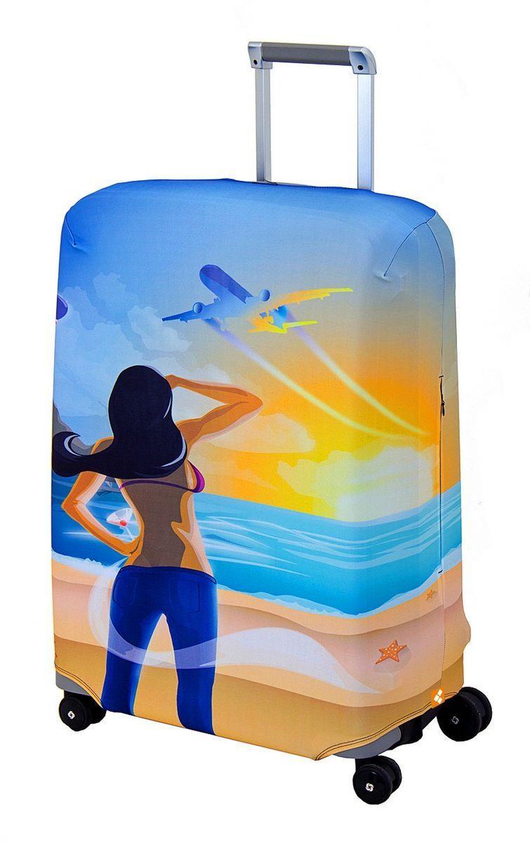 "Чехол для чемодана Routemark ""Hellow Yellow"", размер M/L (65-74 см) Hell-M/L"