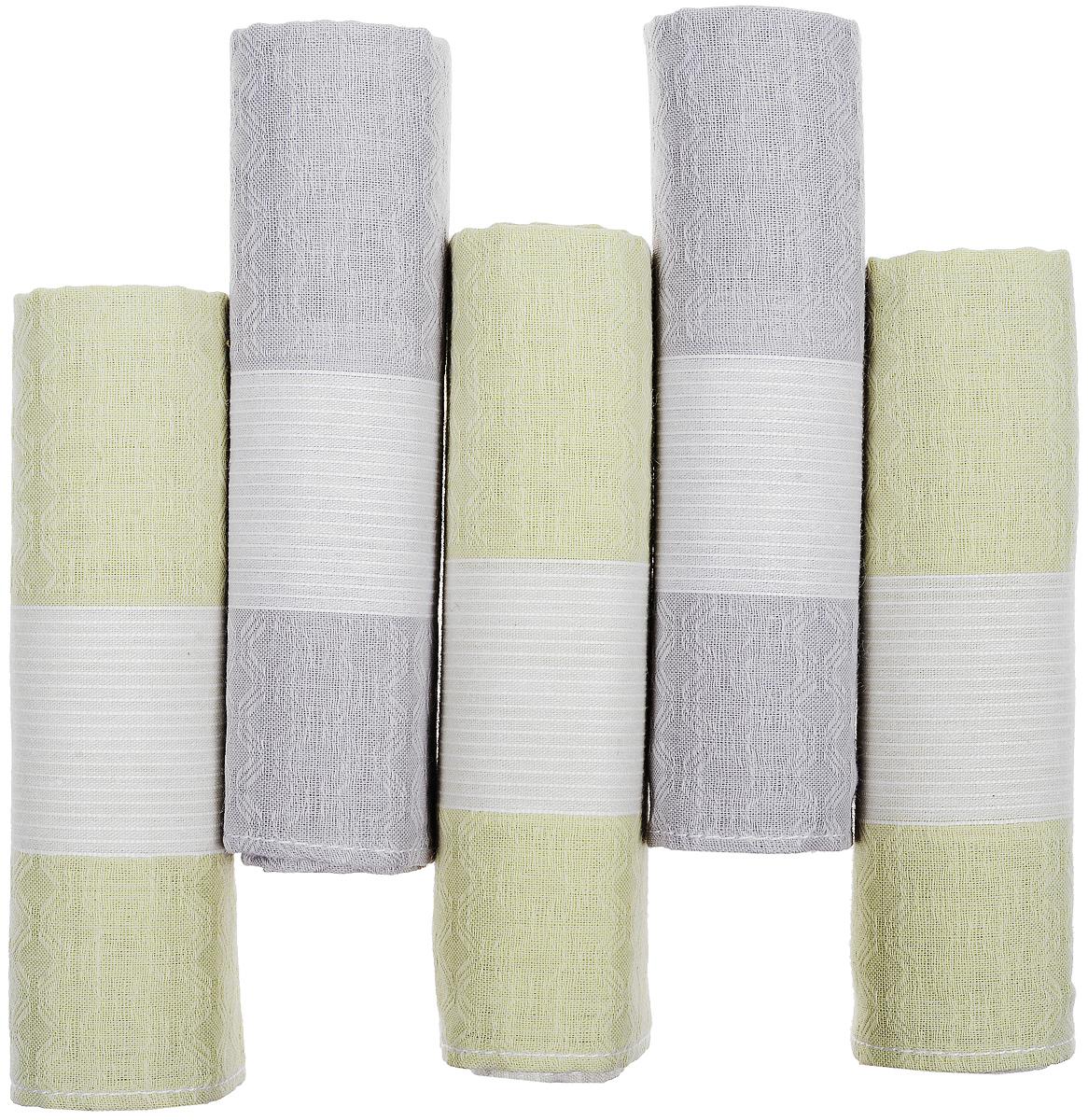 Платок носовой мужской Zlata Korunka, цвет: серый, молочный, 5 шт. 90512-3. Размер 29 см х 29 см39864|Серьги с подвескамиОригинальный мужской носовой платок Zlata Korunka изготовлен из высококачественного натурального хлопка, благодаря чему приятен в использовании, хорошо стирается, не садится и отлично впитывает влагу. Практичный и изящный носовой платок будет незаменим в повседневной жизни любого современного человека. Такой платок послужит стильным аксессуаром и подчеркнет ваше превосходное чувство вкуса.В комплекте 5 платков.