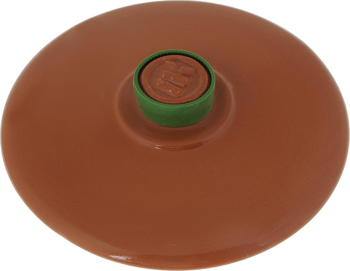 Крышка керамическая Ломоносовская керамика. Диаметр 22 смКТк-22Крышка керамическая Ломоносовская керамика, изготовленная из глины, является жаропрочной. На ручке крышки имеется силиконовый обод, который поможет уберечь ваши руки от ожогов и не позволит крышке выскользнуть из рук. С керамической крышкой можно готовить в СВЧ и духовке. Также ее можно мыть в посудомоечной машине. Крышка плотно прилегает к краям посуды, сохраняя аромат блюд. Диаметр крышки: 22 см.