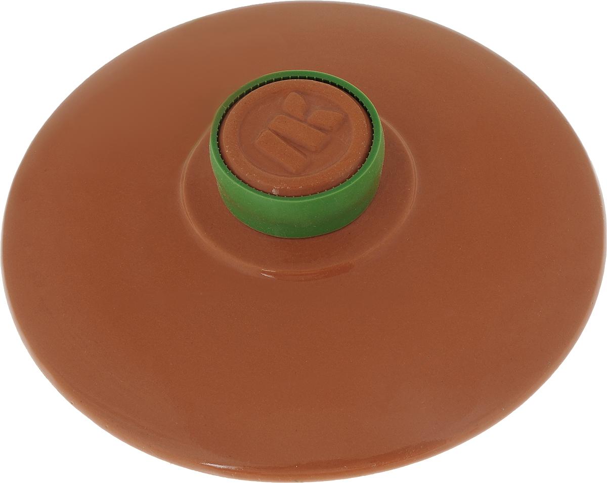 Крышка керамическая Ломоносовская керамика. Диаметр 18 смКТк-18Крышка керамическая Ломоносовская керамика, изготовленная из глины, является жаропрочной. На ручке крышки имеется силиконовый обод, который поможет уберечь ваши руки от ожогов и не позволит крышке выскользнуть из рук. С керамической крышкой можно готовить в СВЧ и духовке. Также ее можно мыть в посудомоечной машине. Крышка плотно прилегает к краям посуды, сохраняя аромат блюд. Диаметр крышки: 18 см.