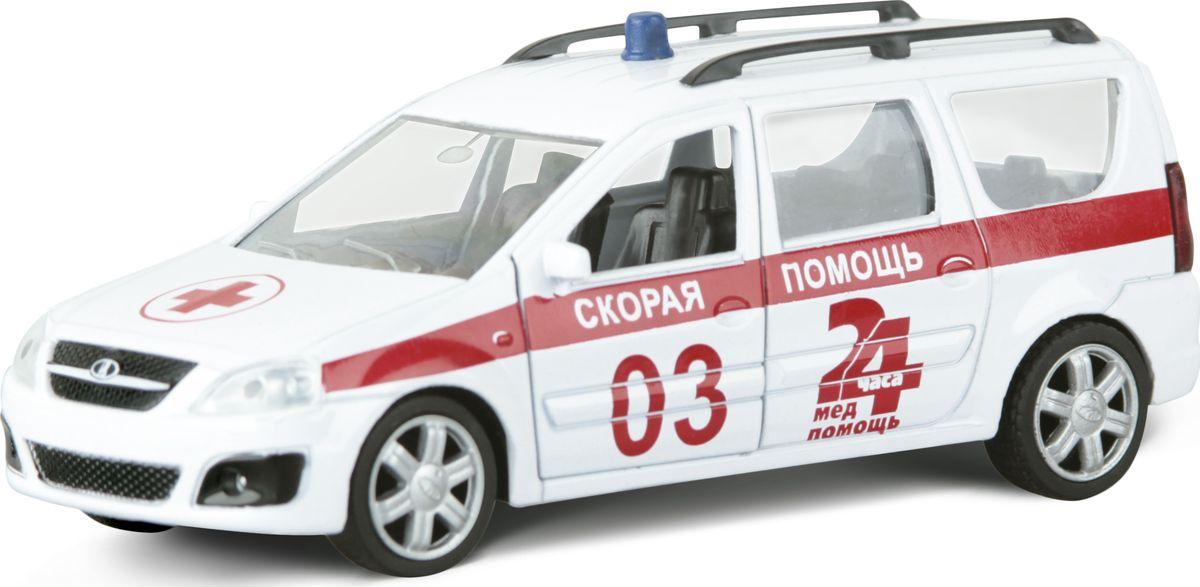 Autotime Модель автомобиля Lada Largus Скорая помощь машинки autotime машина lada kalina скорая помощь