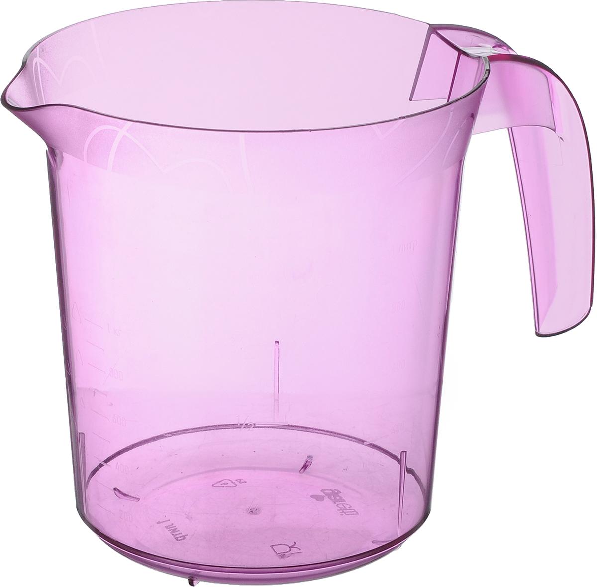 Стакан мерный Giaretti, цвет: сиреневый, 1 лGR3056_сиреневыйМерный прозрачный стакан Giaretti выполнен из полистирола. Стакан оснащен удобной ручкой и носиком, которые делают изделие еще более простым в использовании. Он позволяет мерить жидкости до 1 л. Удобная форма стакана позволяет как отмерить необходимое количество продукта, так и взбить/замесить его непосредственно прямо в этой же емкости. Такой стаканчик пригодится каждой хозяйке на кухне, ведь зачастую приготовление некоторых блюд требует известной точности. Можно мыть в посудомоечной машине. Объем: 1 л. Диаметр (по верхнему краю): 13,5 см. Высота: 15 см.