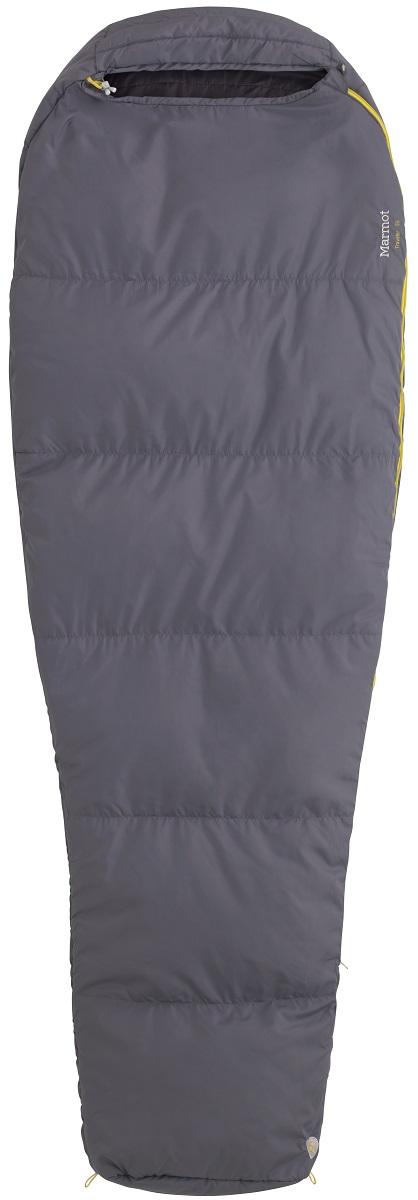 Спальный мешок Marmot NanoWave 55, 60, цвет: серый, левая молнияa026124Легкий компактный спальник.Утеплитель SpiraFil.Компрессионный мешок в комплекте.Регулировочные шнуры различного диаметра.Планка вдоль молнии.Двусторонние бегунки на молнии.Превращается в одеяло.Две петли для подвешивания спальника.Карманчик для бегунков на конце молнии.