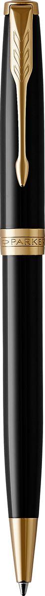 Parker Ручка шариковая Sonnet Black Laque GT72523WDШариковая ручка Parker Sonnet Black Laque GT - идеальный инструмент для письма. Материал ручки - нержавеющая сталь с покрытием глянцевого лака черного цвета, в отделке применяется позолота 23К. Способ подачи стержня: Поворотный.Данный пишущий инструмент поставляется в фирменной подарочной коробке премиум-класса, что делает его превосходным подарком.Произведено во Франции.