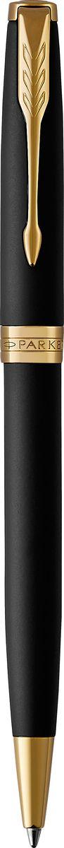 Parker Ручка шариковая Sonnet Matte Black GT610842Шариковая ручка Parker Sonnet Matte Black GT - идеальный инструмент для письма. Материал ручки - латунь с покрытием матового лака черного цвета с сатиновым эффектом, в отделке применяется позолота. Способ подачи стержня: поворотный.Данный пишущий инструмент поставляется в фирменной подарочной коробке премиум-класса, что делает его превосходным подарком.Произведено во Франции.