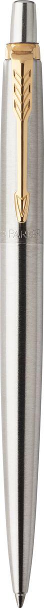 Parker Ручка шариковая Jotter Stainless Steel GT7710899Шариковая ручка Parker Jotter Stainless Steel GT выполнена в серебристом цвете из нержавеющей стали, а декоративные элементы выполнены в позолоченном цвете. Способ подачи стержня: кнопочный.Марка Parker гарантирует полную уверенность в превосходном качестве товара. Ручка Parker Jotter Royal будет не только долго служить, но и неизменно радовать удобством и легкостью письма, надежностью в эксплуатации и прекрасным эстетическим исполнением.