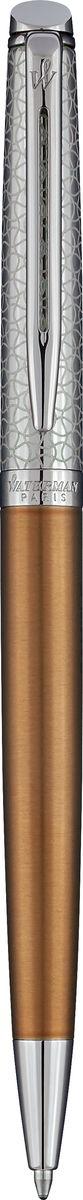 Waterman Ручка шариковая Hemisphere La Collection Privee Bronze Satine CT96732СШариковая ручка Waterman Hemisphere La Collection Privee Bronze Satine CT - это незаменимый предмет на любом рабочем столе. Такая ручка обеспечит четкий цвет и мягкое письмо.Особенности:Материал корпуса: стальПокрытие корпуса: матовое покрытие цвета бронзовый сатинМатериал отделки деталей корпуса: полированная стальКолпачок из полированной стали с уникальной лазерной гравировкой. Кольцо с гравировкой Waterman Paris. Способ подачи стержня: поворотный механизм