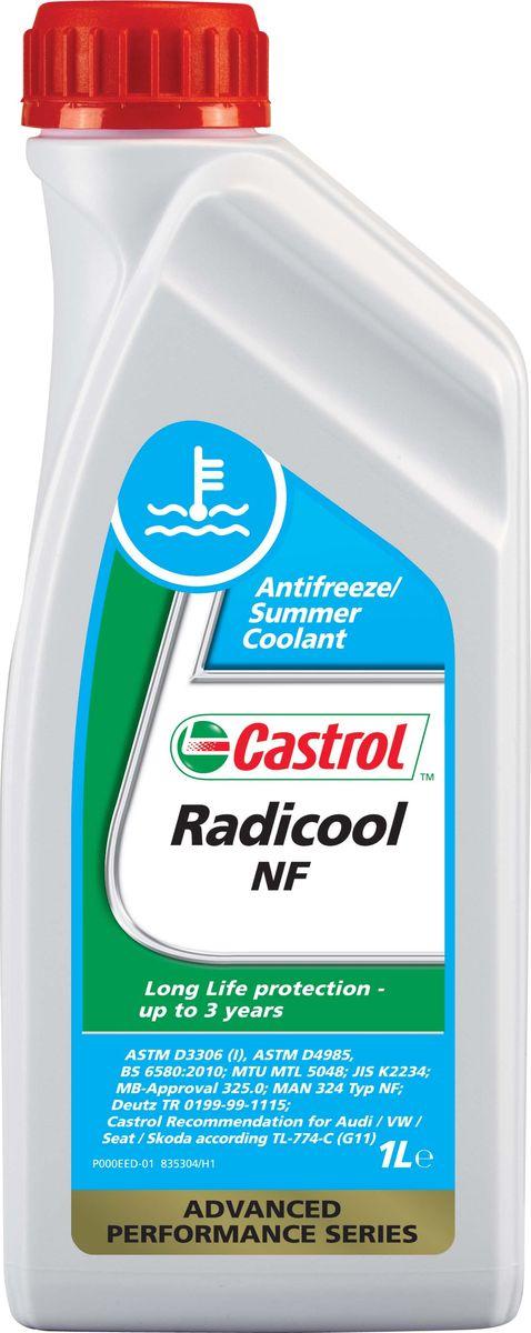 Антифриз Castrol Radicool NF, 1 л, G11158A5EОписание Castrol Radicool NF – концентрат антифриза на основе моноэтиленгликоля и специально подобранного пакета присадок, без ингибиторов, содержащих нитриты, амины и фосфаты. Создан с использованием гибридной технологии для современных двигателей легковых и грузовых автомобилей. Данную охлаждающую жидкость рекомендуется использовать в концентрациях от 33% до 50% с разбавлением дистиллированной водой, чтобы получить оптимальную защиту от коррозии. При этом температуры замерзания будут находиться в интервалах от -18°C до -36°C. Применение Castrol Radicool NF разработан в соответствии с возрастающими требованиями производителей двигателей и автомобилей к высокоэффективным охлаждающим жидкостям, которые оказывают минимальное влияние на окружающую среду. Обеспечивает отличную защиту от коррозии и, так как он не содержит фосфатов, устраняет проблему отложений, встречающуюся в некоторых современных двигателях. Кроме превосходных антикоррозионных и низкотемпературных свойств, использование...
