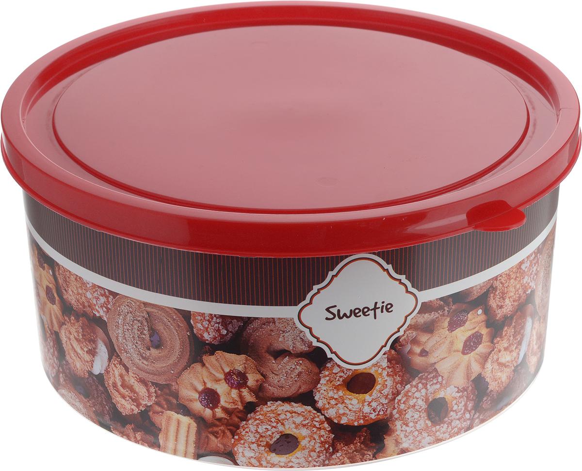 Набор контейнеров Полимербыт, круглые, 2 штSGHPBKP117Набор Полимербыт состоит из двух круглых контейнеров, которые изготовлены из высококачественного пластика. Изделия, оформленные оригинальным принтом, предназначены для хранения холодных пищевых продуктов. Контейнеры оснащены плотно закрывающимися крышками. Объем контейнеров: 1,9 л; 2,6 л. Диаметр контейнеров (без учета крышки): 18 см, 20 см. Высота контейнеров (без учета крышки): 9 см, 10 см.