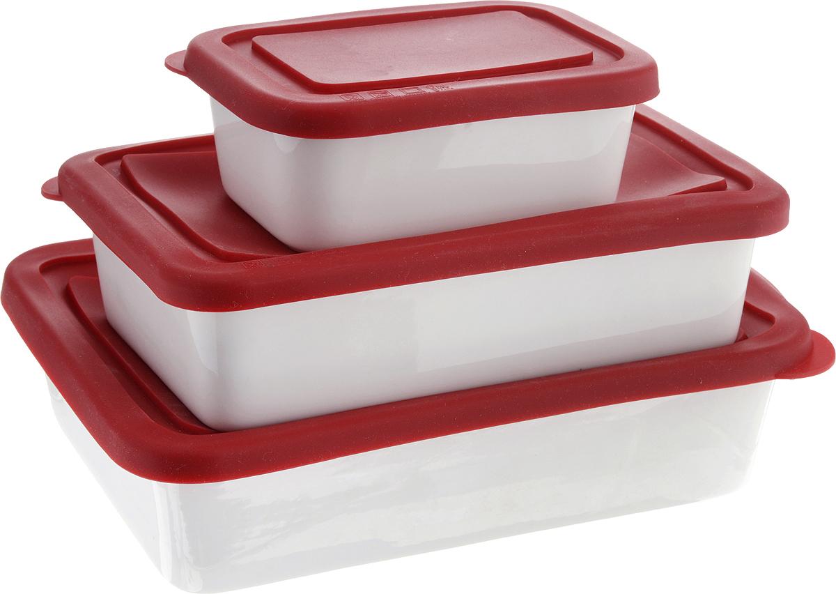 Набор форм Oursson, с крышкой, цвет: красный, белый, 3 штBW2114SС/RDФорма Oursson состоит из трех форм, выполненных из керамики с глазурованным покрытием. Изделия оснащены силиконовыми крышками. Стенки изделий быстро распространяют тепло и выпечка пропекается равномерно. Готовый продукт легко вынимается из форм, а их чистка не доставит вам особого труда. Такие формы созданы, чтобы пробуждать кулинарную фантазию и удовлетворять творческие кулинарные порывы. Подходит для использования в микроволновой печи. Можно мыть в микроволновой печи. Рабочая температура: от -20 до +220°С. Объем форм: 0,25 л; 0,6 л; 0,86 л. Размеры форм: 9 х 12 см; 12 х 18,5 см; 14 х 21 см. Высота стенки: 4,5 см; 5 см.