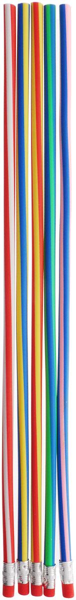 Эврика Карандаш гибкий 5 шт610842Карандаши Эврика, которые можно завязывать в узел или заплетать косичкой, - символ гибкости мышления, творческой изобретательности и новаторства. Специально разработанный эластичный графит расположен в силиконовой оболочке, и позволяет наносить надписи, чертежи или рисунки, не боясь, что хрупкий грифель сломается при падении или от неловкого нажатия. При необходимости можно разрезать карандаш на множество небольших частей, удобных по размеру для использования. Гибкий карандаш легко затачивается обычной точилкой.