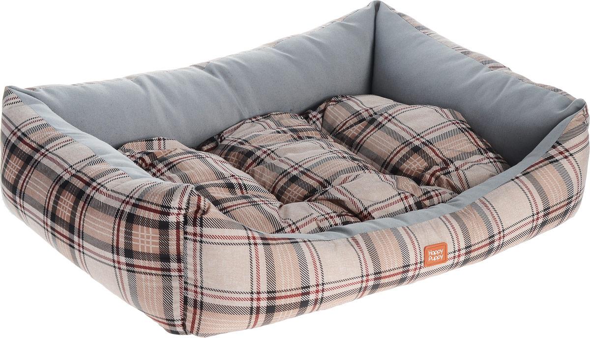 Лежак для собак Happy Puppy Комфорт-4, 64 x 49 x 15 смHP-170006-4Мягкий лежак Happy Puppy Комфорт-4 обязательно понравится вашему питомцу. Он выполнен из высококачественного хлопка и полиэстера с водоотталкивающей пропиткой, а наполнитель - из мягкого холлофайбера. Такой материал не теряет своей формы долгое время. Лежак оснащен мягкой съемной подстилкой. Высокие бортики обеспечат вашему любимцу уют. За изделием легко ухаживать, его можно стирать вручную. Мягкий лежак станет излюбленным местом вашего питомца, подарит ему спокойный и комфортный сон, а также убережет вашу мебель от шерсти. Размер: 64 х 49 х 15 см.