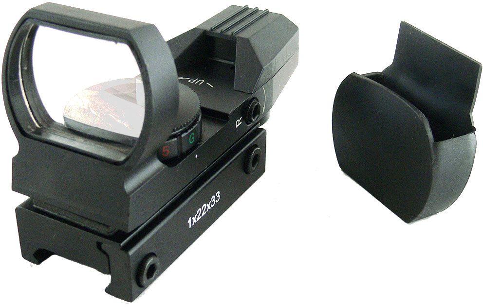 Прицел коллиматорный Target Optic 1x33, открытый на Weaver, со сменной маркойJE-2783_339690Коллиматор Target Optic 1x33 открыттый на Weaver, марка - сменная 4 вида. Арт. TO-1-22-33Коллиматорный прицел Target Optic 1x22х33 открытого типа предназначен для установки на гладкоствольное и нарезное оружие, а также на пневматическое, с энергией не более 7,5 Дж. Система монтажа позволяет устанавливать прицел на любое оружие, оборудованное стандартной базой Weaver/Picatinny. Крепится на оружие с помощью двух винтов на расстоянии от 5 до 40 см от глаза стрелка до окуляра прицела. Щелчок пристрелочного винта соответствует смещению точки попадания на 12-15мм на дистанции 100м.Оснащен регулятором яркости прицельной марки, который позволяет изменять интенсивность подсветки. Подсветка двух цветов: красная и зеленая. Всего 10 уровней подсветки: 5 - для красной и 5 - для зеленой. Сама прицельная марка имеет четыре разновидности. Линзы прицела имеют специальное покрытие, которое защищает их от запотевания и от мелких повреждений. Качественная оптика позволяет использование прицела в условиях недостаточной освещенности.Использование коллиматорного прицела обеспечивает более удобное и быстрое прицеливание. При достижении определенного навыка, пользователь в дальнейшем будет использовать только прицелы этого типа за счет их удобства и точности. Коллиматор имеет небольшой вес, поэтому не сильно утяжелит оружие. Матовый корпус не создает солнечные блики, а, следовательно, не выдает местонахождение охотника.Тип: панорамныйУвеличение (х): 1Прицельная марка: сменная, 4 видаПодсветка прицельной марки: 2 цвета (красный и зеленый), 5 режимов яркостиРазмер линзы: 33х23 ммДлина прицела: 81 ммМатериал: алюминийТип батареи: CR2032 3VКрепление: на планку WeaverСовместимость с приборами ночного видения: нетВес с кронштейном: 120 гВес с упаковкой: 205 гРазмер упаковки (ДхШхВ): 11,7х7,7х6,8 смГарантия: 1 годКомплектация:- коллиматорный прицел- батарея CR2032 3V- защитная крышка на линзу- шестигранный к