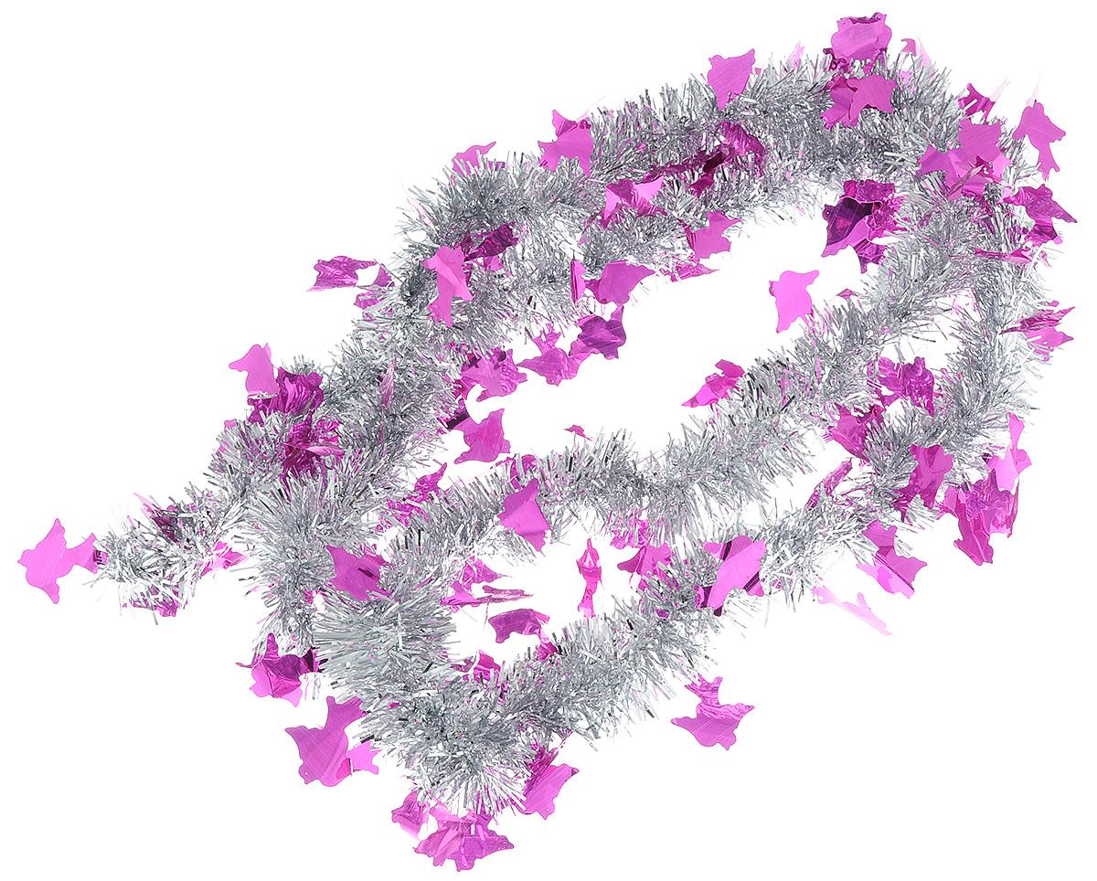 Мишура новогодняя Sima-land, цвет: серебристый, малиновый, диаметр 5 см, длина 2 м. 702618702618_серебристый, малиновыйМишура новогодняя Sima-land, выполненная из двухцветной фольги, поможет вам украсить свой дом к предстоящим праздникам. Мишура армирована, то есть имеет проволоку внутри и способна сохранять приданную ей форму. Новогодняя елка с таким украшением станет еще наряднее. Новогодней мишурой можно украсить все, что угодно - елку, квартиру, дачу, офис - как внутри, так и снаружи. Можно сложить новогодние поздравления, буквы и цифры, мишурой можно украсить и дополнить гирлянды, можно выделить дверные колонны, оплести дверные проемы. Коллекция декоративных украшений из серии Зимнее волшебство принесет в ваш дом ни с чем несравнимое ощущение праздника! Создайте в своем доме атмосферу тепла, веселья и радости, украшая его всей семьей.