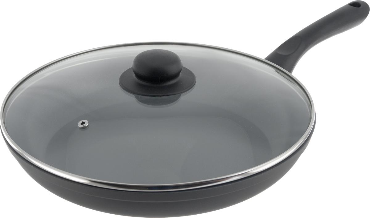 Сковорода NaturePan Classic Induction, с крышкой, с керамическим покрытием. Диаметр 28 см94672Сковорода NaturePan Classic Induction выполнена из алюминия и имеет современное керамическое антипригарное покрытие. Индукционное дно, выполненное из стали, равномерно распределяет тепло по всей поверхности сковороды, что улучшает качество приготовления пищи. Внутреннее - антипригарное экологически безопасное полимерное покрытие на водной основе. Внешнее - термостойкая силиконовая эмаль - покрытие обеспечивает легкую чистку. Эргономичная бакелитовая ручка, не нагревается, не скользит в руке и приятна на ощупь. Крышка, изготовленная из термостойкого стекла, оснащена ручкой и пароотводом. Такая крышка позволяет следить за процессом приготовления пищи без потери тепла. Она плотно прилегает к краю посуды, сохраняя аромат блюд.Яркие цвета внутреннего и внешнего покрытия подчеркивают изысканность блюда при приготовлении и создают атмосферу комфорта и уюта на любой кухне.Подходит для всех видов плит, включая индукционные.Диаметр: 28 см. Высота стенки: 5 см.Длина ручки: 18,5 см.Диаметр крышки: 28 см.