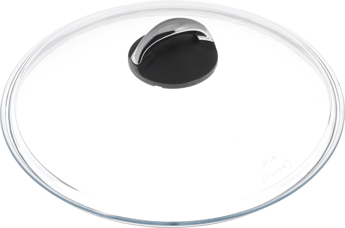 Крышка стеклянная Oursson. Диаметр 28 смLI2801/TBКрышка Oursson изготовлена из высококачественного боросиликатного стекла. Изделие не имеет обода. Крышка оснащена удобной ненагревающейся ручкой из бакелита. Такая крышка позволит следить за процессом приготовления пищи без потери тепла. Она плотно прилегает к краям посуды, сохраняя аромат блюд. Можно мыть в посудомоечной машине.