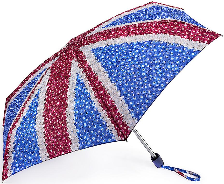Зонт женский Fulton, механический, 5 сложений, цвет: красный, синий. L501-3326L501-3326 DaisyJackСтильный механический зонт Fulton имеет 5 сложений, даже в ненастную погоду позволит вам оставаться стильной. Легкий, но в тоже время прочный алюминиевый каркас состоит из шести спиц с элементами из фибергласса. Купол зонта выполнен из прочного полиэстера с водоотталкивающей пропиткой. Рукоятка закругленной формы, разработанная с учетом требований эргономики, выполнена из каучука. Зонт имеет механический способ сложения: и купол, и стержень открываются и закрываются вручную до характерного щелчка.
