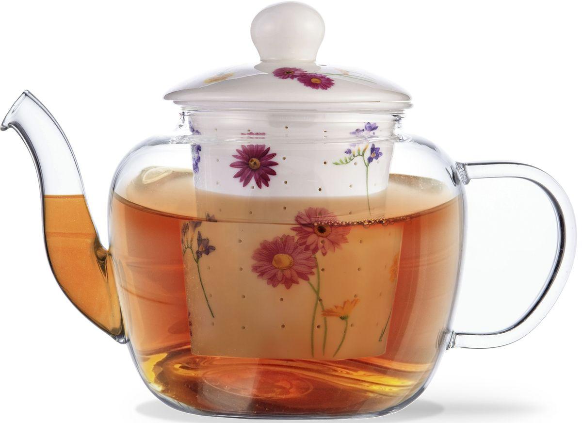 Заварочный чайник Fissman Casablanca, с керамическим фильтром и крышкой, 1000 мл. 9273TP-9273.1000