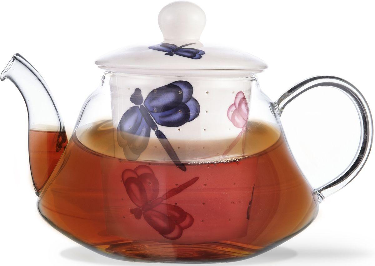 Заварочный чайник Fissman Casablanca, с керамическим фильтром и крышкой, 1000 мл. 9275TP-9275.1000