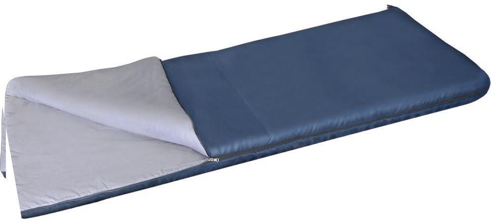 Спальный мешок одеяло Greenell Бирр +6, цвет: синий, правая молнияс58836Благодаря простоте конструкции, спальные мешки легко превращаются в двух спальные одеяла, которые можно использовать не только на природе, но и на даче. Разьемная молния позволяет соединять два мешка вместе, увеличивая объем вдвое. Приезд гостей не застанет вас врасплох, так как у вас в запасе всегда будут для них прекрасные одеяла.