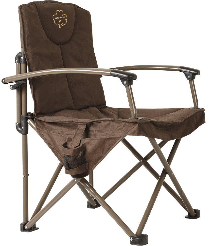 Кресло складное Greenell Элит FC-24, цвет: коричневый, 150 кг95994-232-00Большое кресло для Больших людей.