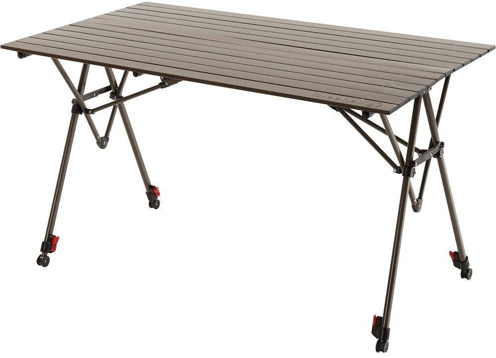 Стол складной Greenell Элит FT-17, цвет: коричневый, 40 кг64741Складной стол с большим запасом прочности. Неразъемная конструкция не оставит лишних деталей. Индивидуальная регулировка длины каждой ножки позволяет устанавливать стол на сложной поверхности.