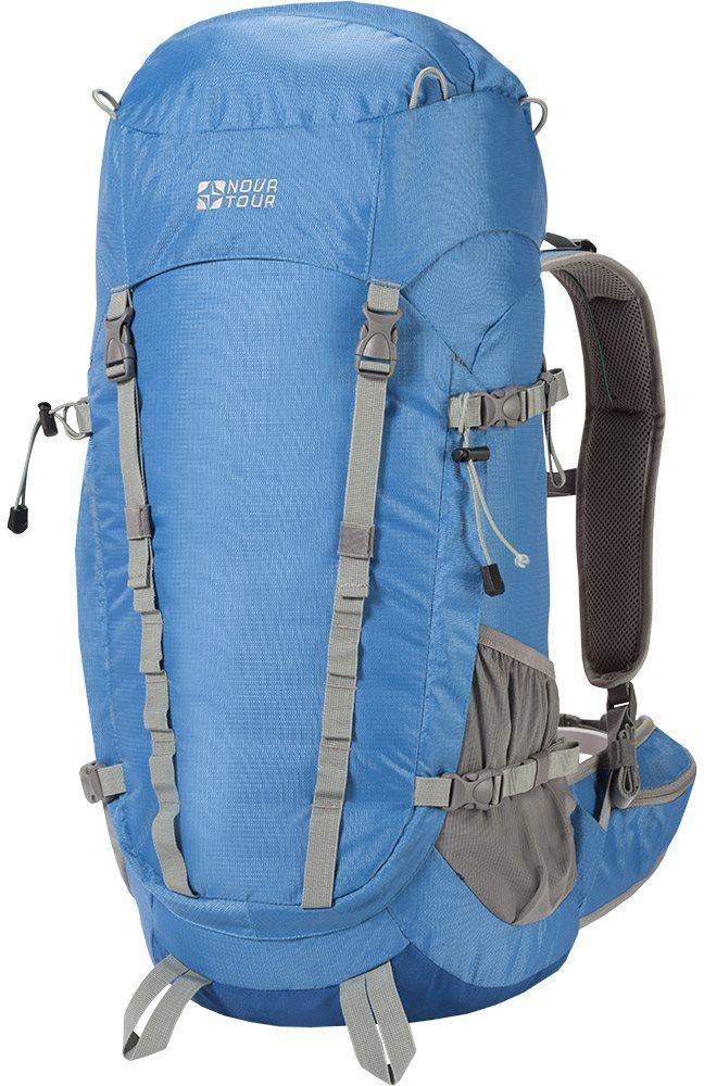 Рюкзак туристический Nova Tour Грифон, 50 л, цвет: голубой96016-426-00Треккинговый рюкзак с большим фронтальным входом позволяет легко достать вещь прямо из середины рюкзака. Удобный поясной ремень позволит разгрузить плечи и спину и насладится прогулкой.