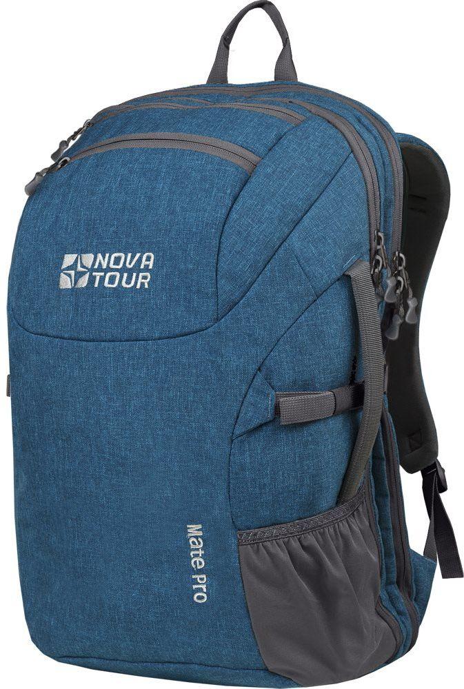 Рюкзак городской Nova Tour Мэйт PRO, 40 л, цвет: синий96022-422-00Вместителный стильный городской рюкзак. Хорошо подойдет для командировок, для большей мобильности. Большой основной отдел, карман вдоль спины для ноутбука и документов. Небольшой кармашек для мелочи. На одной из сторон удобная ручка для транспортировки с другой карман для бутылочки.