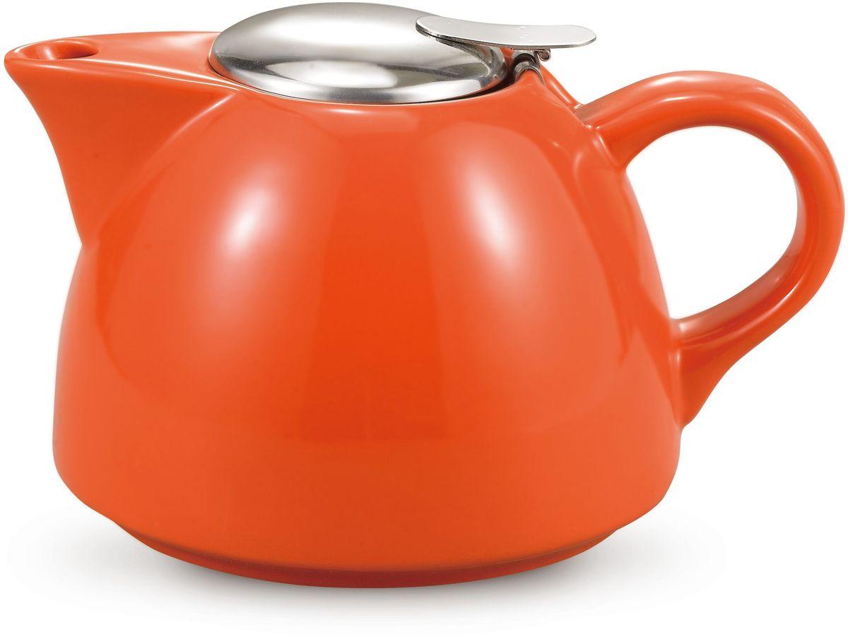 Заварочный чайник Fissman, с ситечком, цвет: оранжевый, 950 мл. 9279TP-9279.950