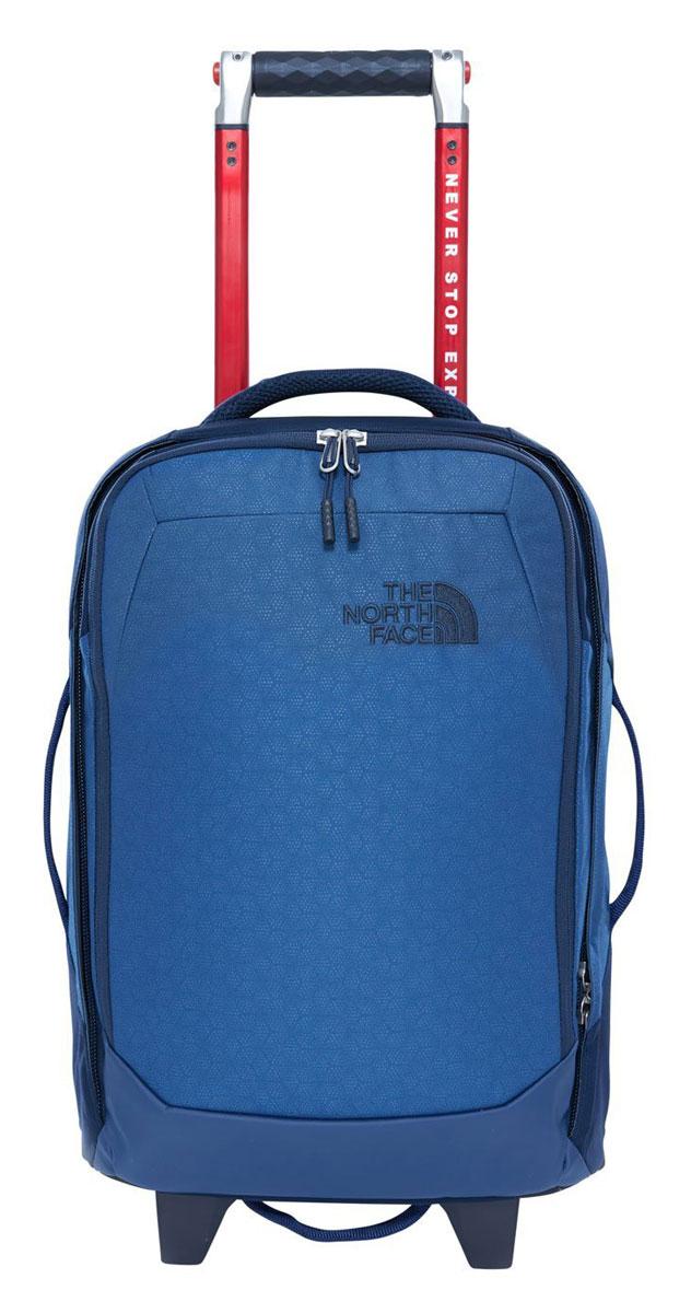 """Сумка дорожная The North Face Overhead, цвет: синий. T92T7BLKMT92T7BLKMДорожная сумка Overhead объемом 29 литров - стильная, достаточно вместительная, чтобы упаковать все необходимое на один два-дня путешествия, в то же время компактная и удобная в транспортировке. В сумке есть мягкое отделение для ноутбука диагональю 15"""". В основном отделении сетчатый карман на молнии. Удобная телескопическая ручка и четыре ручки для переноски. Прочные колеса с плавным ходом. Защитные вставки из пластика в местах повышенных нагрузок. U-молния в основном отделении с широким раскрытием. Внутренний сетчатый карман на молнии."""