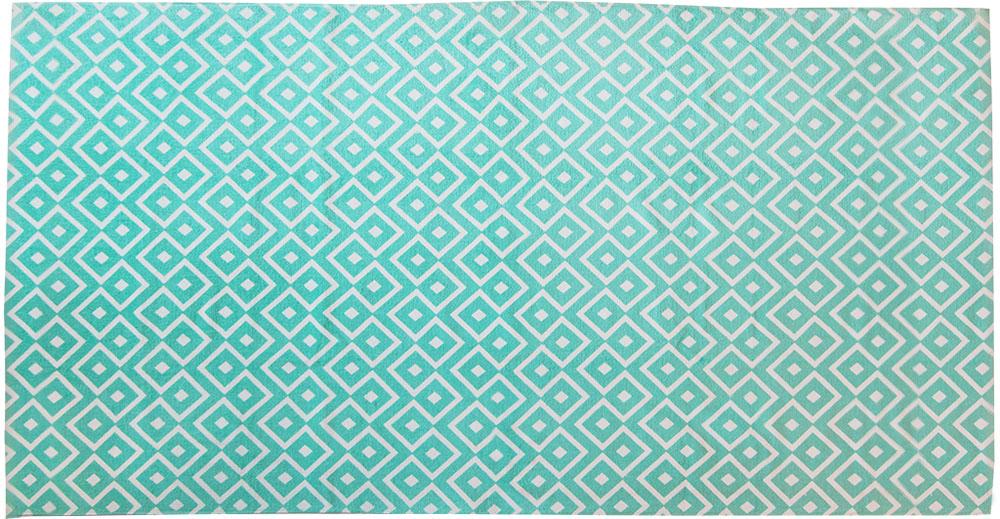 Полотенце пляжное Bonita, цвет: бирюзовый, 75 x 150 см10503Пляжное полотенце Bonita выполнено из 100% хлопка. Изделие отлично впитывает влагу, быстро сохнет, сохраняет яркость цвета и не теряет форму даже после многократных стирок. Такое полотенце очень практично и неприхотливо в уходе. Оно создаст прекрасное настроение и отлично подойдет для использования дома и на пляже.
