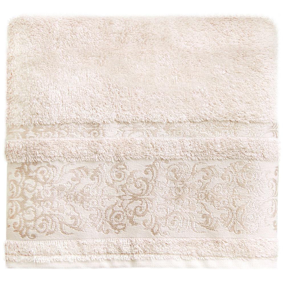Полотенце банное Bonita Дамаск, махровое, цвет: бежевый, 50 x 90 см21011217327Состав: 30% хлопок, 70% бамбук. Плотность: 450 гр/м2. Отлично впитывают влагу, быстро сохнут. Мягкие и шелковистые, имеют естественный блеск. Сохраняют цвет и первоначальные размеры после стирки.