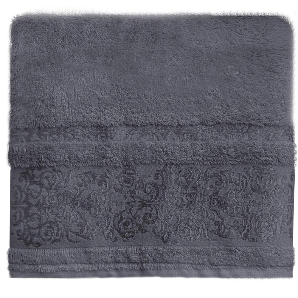 Полотенце банное Bonita Дамаск, махровое, цвет: антрацит, 50 x 90 см21011217331Состав: 30% хлопок, 70% бамбук. Плотность: 450 гр/м2. Отлично впитывают влагу, быстро сохнут. Мягкие и шелковистые, имеют естественный блеск. Сохраняют цвет и первоначальные размеры после стирки.